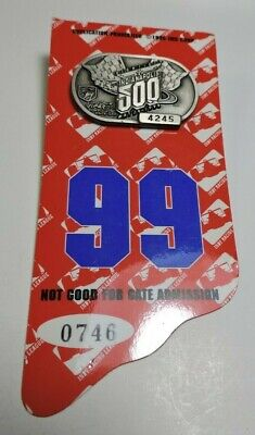 $32 • Buy Indy 500 Silver Pit Badge 1996 With Back Up Card