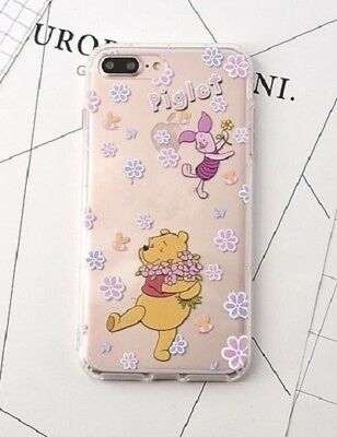 AU10.58 • Buy NEW IPhone 7/8 Disney Winnie The Pooh & Piglet Floral Silicon Soft Phone Case