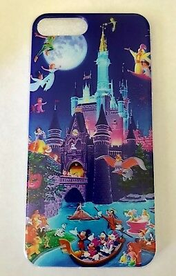 AU14.45 • Buy NEW IPhone 7/8 PLUS Disneyland Castle With Disney Characters Soft Phone Case