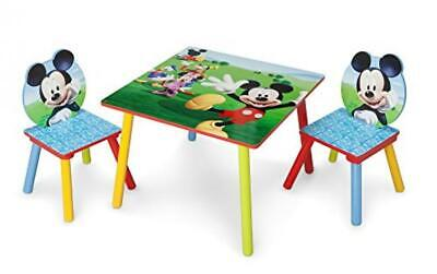 £70.26 • Buy Kids Mickey Mouse Table Chairs Set Toddler Boy Girl Furniture Activity New