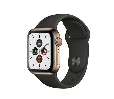 $ CDN652.95 • Buy Apple Watch Series 4 40 Mm Gold Stainless Steel Case With Black Sport Band