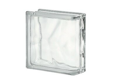 £96 • Buy Clear Wave Linear End Glass Block (Pack Of 5)