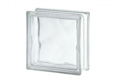 Clear Wave Glass Block (Pack Of 10) (Flemish) • 42£