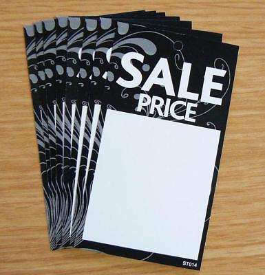 SALE PRICE TAGS SWING TICKETS LABELS FOR USE WITH KIMBLE GUN X 100 (ST014 BLACK) • 2.90£
