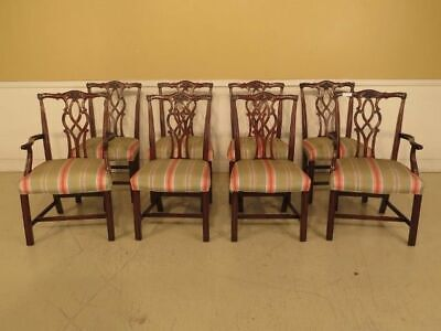 $3295 • Buy LF43383E: Set Of 8 KINDEL Chippendale Mahogany Dining Room Chairs
