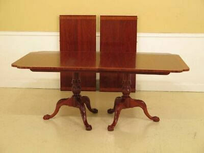 $1795 • Buy LF37592: HICKORY CHAIR CO. Clawfoot Mahogany Dining Room Table