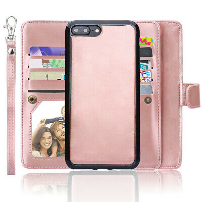 AU28.49 • Buy Apple IPhone 2 In 1 Folio Flip Premium PU Leather Wallet Case For Women, Girls