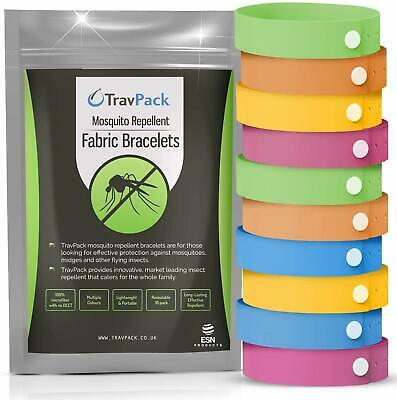 Mosquito Bands (x10) Natural Insect Repellent Repel Mosquito Midge Other Insects • 10.59£