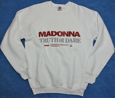 $ CDN331.87 • Buy Madonna Truth Or Dare Promo Long Sleeve Sweat Shirt Boy Toy Miramax Home Video