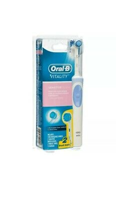 AU23.99 • Buy Oral-B Vitality Sensitive Electric Rechargeable Toothbrush 2 Brush Heads +Timer
