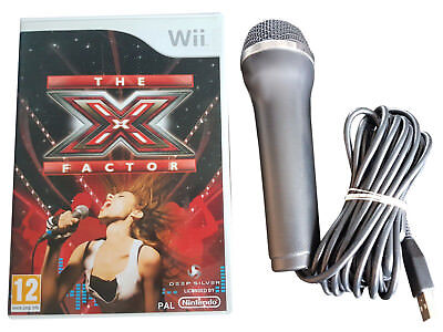 The X Factor - Game + Microphone - Nintendo Wii / Wii U - Free, Fast P&P! - Sing • 19.95£