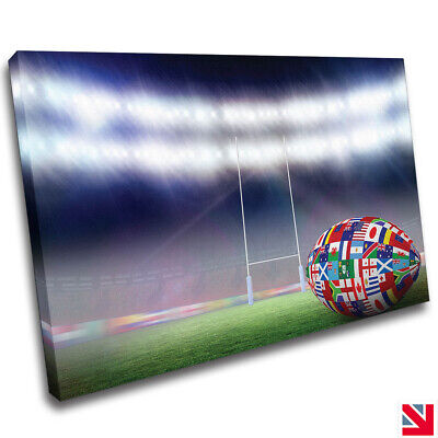 £25.99 • Buy Rugby Sports CANVAS Wall Art Picture Print