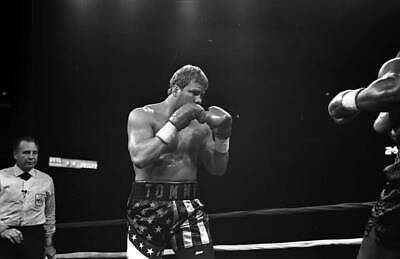 LARGE OLD BOXING PHOTO Tommy Morrison Looks To Throw V Marshall Tillman 2 • 4.69£