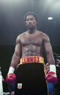 LARGE OLD BOXING PHOTO Lennox Lewis Walks In The Right V Tommy Morrison 2 • 4.69£