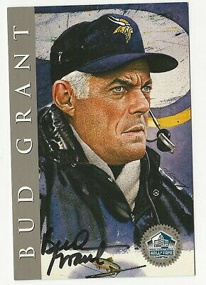 $44.99 • Buy Bud Grant 1998 Football Hall Of Fame Signature Autograph Post Card Auto 2500