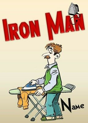 Personalised Iron Man (IronMan/Avengers/Parody) Birthday Card • 2.99£