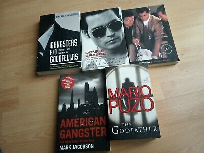 TRUE CRIME MAFIA 5 BOOK BUNDLE Brasco Goodfellas Godfather American Gangsters • 14£