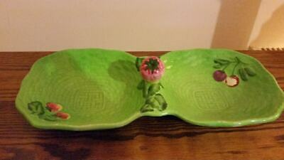 Vintage Beswick Ware Double Fruit Bowl Basket, Strawberry And Cherry Dish RARE • 9.99£