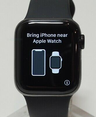 $ CDN443.42 • Buy Apple Watch Series 4 Black Stainless Steel Case 40mm (GPS + Cellular) MTUN2LL/A