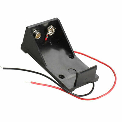 9V Volt Black Battery Clip Holder Box Case Cover With Wire Lead Wire Sale C X5A9 • 1.78£