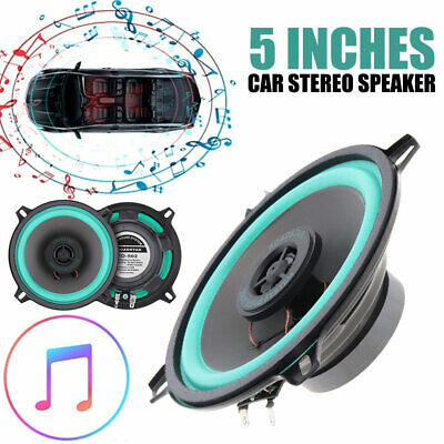 AU22.89 • Buy 5  Inch 100W Coaxial Rear Stereo Speakers 2 Way Car Audio Subwoofer