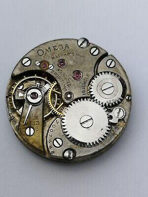 Nice Vintage 1920s Omega Watch Movement With Dial And Hands (C63) • 44.99£