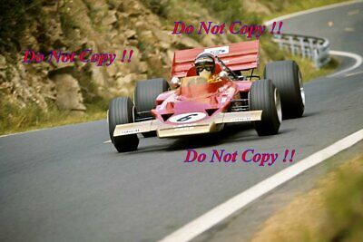 Jochen Rindt Gold Leaf Team Lotus 72C Winner French Grand Prix 1970 Photograph 2 • 4£