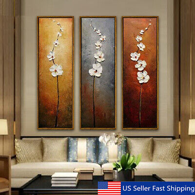 $10.43 • Buy 3Pcs Colorful Flower Canvas Abstract Painting Print Art Wall Home Decor  A N US