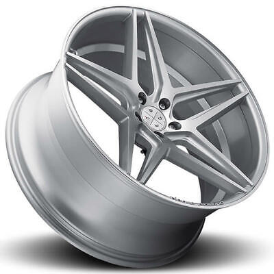 $2330 • Buy 4ea 22  Staggered Blaque Diamond Wheels BD-8 Silver With Polished Rims (S9)