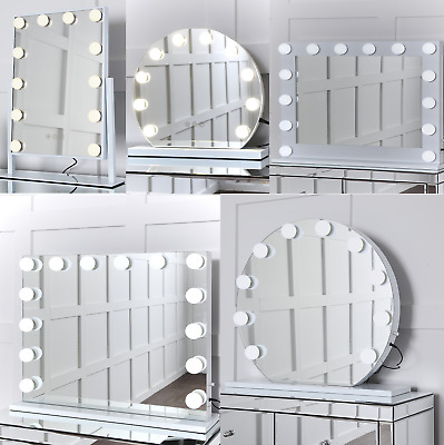 Hollywood Makeup Vanity Light Up Mirror With LED Illuminated Dimmable Bulbs UK.  • 79.99£