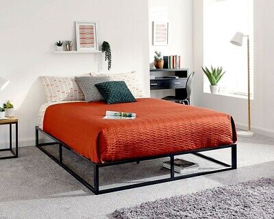 £124.99 • Buy NEW Contemporary Attic Or Loft Low Platform Metal Black Strong Bed Frame Only