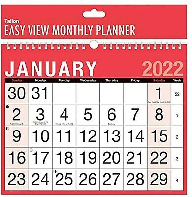 £2.79 • Buy 2021 Wall Calander Family Organiser Easy Month To View Planner In Hanging Spiral