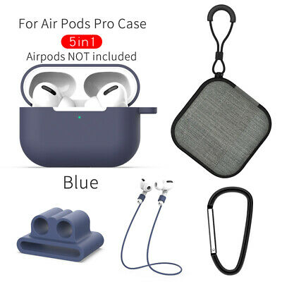 $ CDN6.25 • Buy Durable Strap Holder &Silicone Case Cover For Apple AirPods Pro Accessories Kits