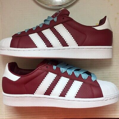 $ CDN35.21 • Buy Adidas Superstar Mens 9 1/2 Shoes Collegiate Burgundy White W/Extra Laces Bd7416
