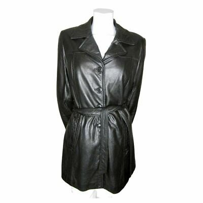 $ CDN39.99 • Buy Danier Black Leather Mid Length Coat With Zip Out Winter Liner Size Small (fits