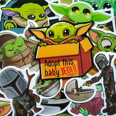 $4.49 • Buy Baby Yoda Star Wars Stickers For Laptop Skateboard Home Decoration 50PCS