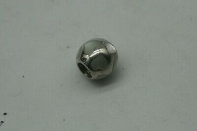 Genuine Pandora Bracelet Charm - Silver  Mother Of Pearl Hearts Ball.  • 14.30£