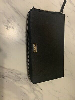 $ CDN125 • Buy Kate Spade Talla Laurel Way Black Zip Travel Wallet Clutch Organizer WLRU2676