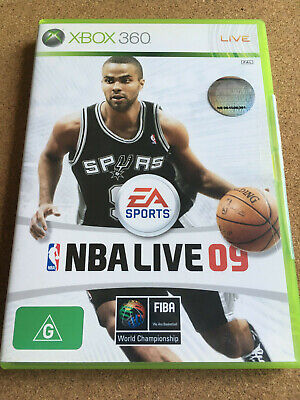 AU7.98 • Buy NBA LIVE 09 - Xbox 360 Game (PAL) - Aus Stock - **COMPLETE** - FAST POST!