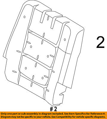 $263.21 • Buy FORD OEM 11-16 Explorer Third Row Seat-Seat Back Pad Right BB5Z7866800D