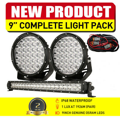 AU158.98 • Buy NEW 22  Slim LED Light Bar + 9  Round Spot Driving Lights Set OSRAM Work 12V 24V