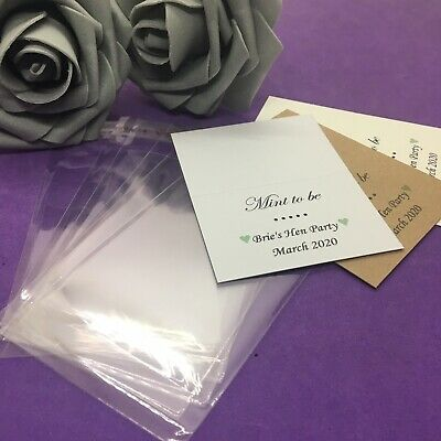 £1 • Buy 10 X DIY Personalised Mint To Be Bags & Tops Wedding Favours Thank You Gift