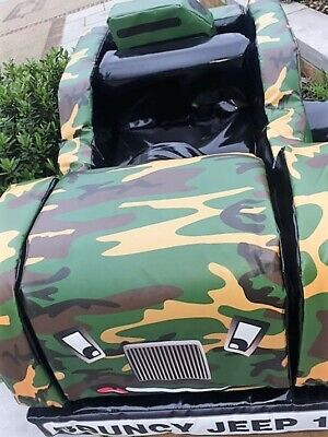 Bespoke Commercial Soft Play Safari Jeep Bouncy 1 • 723.99£