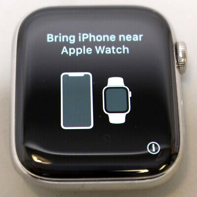$ CDN541.94 • Buy Unlocked Apple Watch 44mm Series 4 Gps/cell Silver Stainless - Face Only - Clean