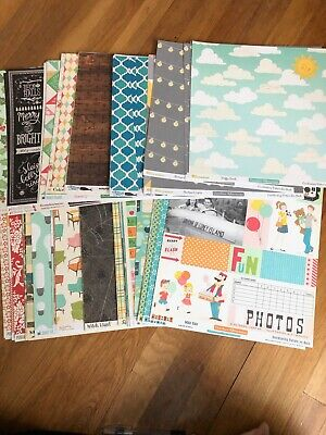 $200 • Buy HUGE October Afternoon 12x12 Paper Lot - 130 Sheets - Stickers - 8x8 Paper Pad