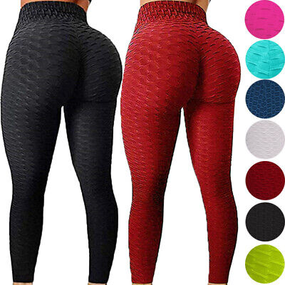 AU26.98 • Buy Women Yoga Pants Anti Cellulite Ruched Scrunch Leggings Sports Fitness Trousers