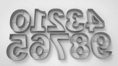 Giant Numbers Large 0 To 9 Cookie Cutter Dough Biscuit Pastry Fondant • 3.50£