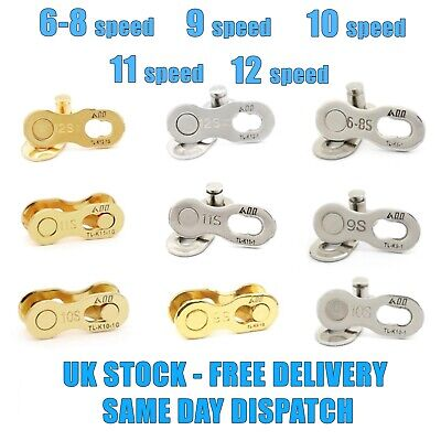 6-8 9 10 11 12 Speed Master Missing Link Quick Link Chain Joiner Fit Shimano Kmc • 6.45£