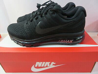 $124.99 • Buy Nike Air Max 2017 Triple Black 849559-004 Running Shoes Men's Sneakers Size 12