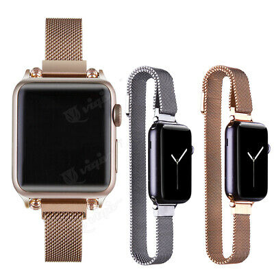 AU24.98 • Buy 14mm Women's Slim Milanese Magnetic Watch Band Strap For Apple Watch 1 2 3 4 5